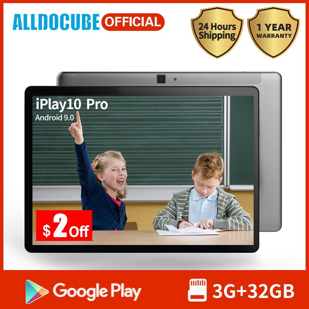 Alldocube IPlay10 Pro Tablet 10.1 Inch IPS Screen MT8163 Quad Core 3GB RAM 32GB ROM Android 9.0 Wifi BT4.0 Kids Tablet