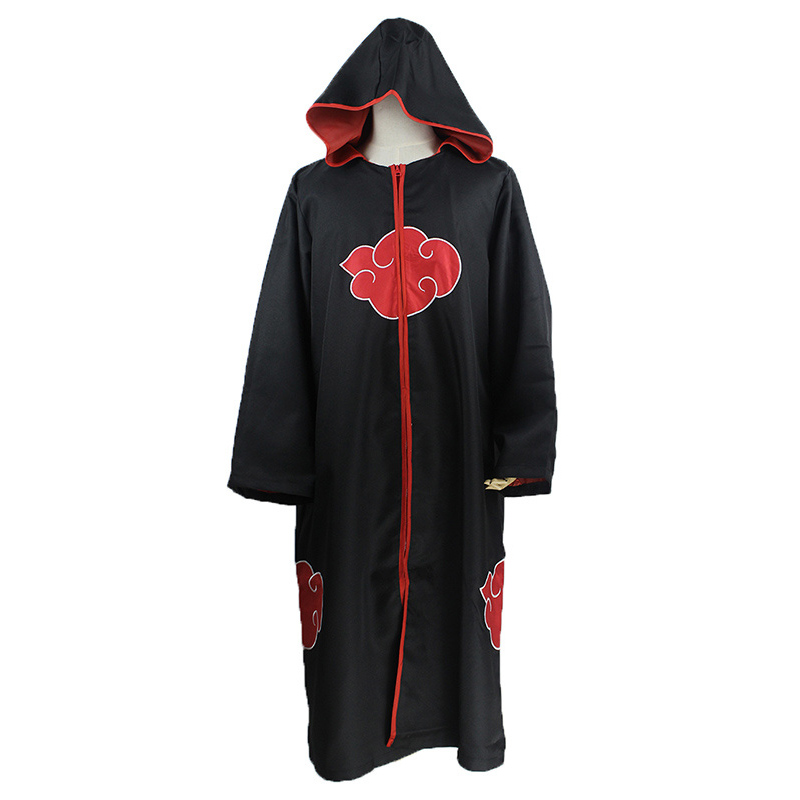 KIGUCOS Large Size Anime Naruto Cosplay Costumes for Men Women Uniform Uchiha Itachi Cloak Akatsuki Costumes Party Cape Outfit