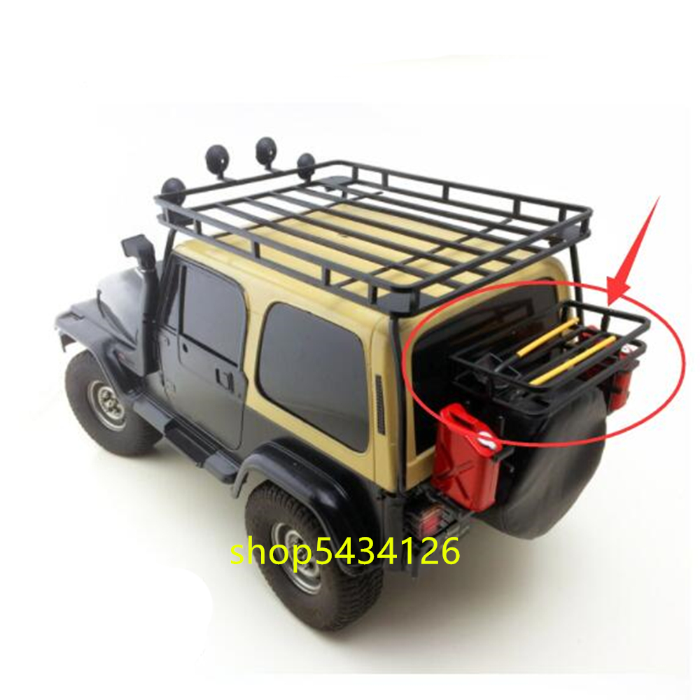 Black Metal Rear Baggage Holder For 1/10 Rc Car Tamiya cc01 Wranglers Body Remote Control Toys Buggy Diy Accessories Parts image