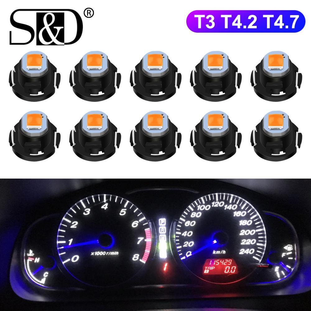 10pcs T3 LED Bulb T4.2 T4.7 LED Super Bright High Quality LED Car Board Instrument Panel Lamp Auto Dashboard Warming Indicato