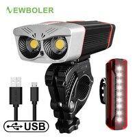 NEWBOLER 2400 Lumen Fahrrad Licht LED Scheinwerfer Fahrrad Lampe USB Aufladbare 5200mAh MTB Fahrrad Licht Taschenlampe Fahrrad Zubehör