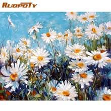 Ruopoty Рамка diy Набор для рисования по номерам цветов домашний