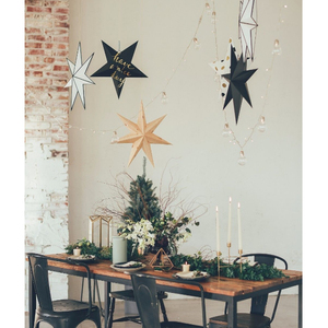 Novelty 3D Paper 9 Point Star Hanging Decor Wedding Christmas Party Supplier