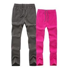 Уличные флисовые брюки мужские и женские плюс бархатные толстые флисовые теплые двухсторонние свободные и большие размеры осенние