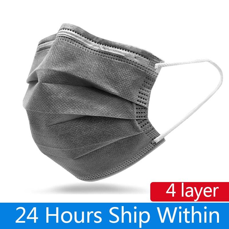 10pcs/100pcs Face Mouth Protective Mask Disposable 3 Layers Masks Fashion Non Woven Mouth Masks Gray