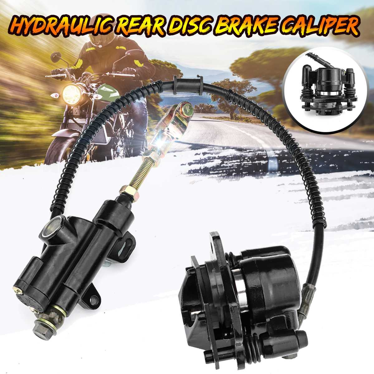 Powerful Hydraulic Rear Brake Caliper Large Pot with Pads New for Quad ATV bike