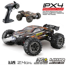 JTY Toys 1:16 RC Trucks 36km/h High Speed Remote Control Buggy Truck Waterproof 4WD Bigfoot Climbing Off-Road Remote Control Car