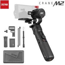 Instock Zhiyun رافعة M2 3 Axis يده مثبت أفقي للعمل بدون مرآة كاميرات مدمجة الهواتف الذكية Pk Feiyutech G6 plus