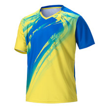 Men women couple short sleeve tennis shirts golf table jersey uniforms sport clothing badminton shirt running t-shirt sportswear(China)