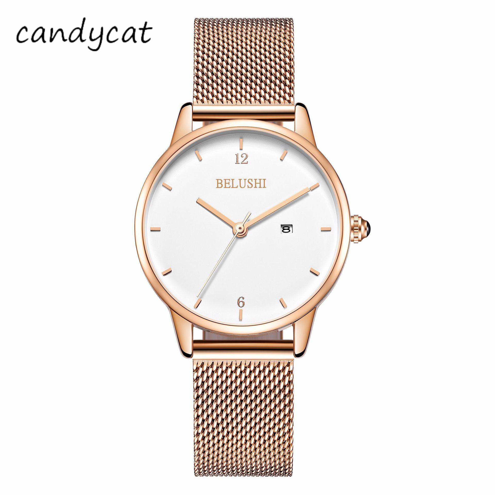 candycat-watch-ms-students-korean-version-of-the-simple-fashion-waterproof-temperament-women's-watch-mesh-belt-steel-belt