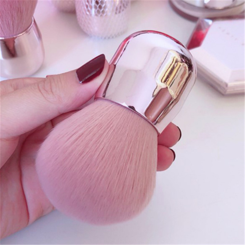 1PC Pink Powder Makeup Brushes Large Head Make Up Brush Mushroom Head Makeup Brush Beauty Brushes For Face Foundation  Blush