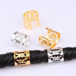 20 PCS Fashion Aluminum Hollow Hair Jewelry Braid Rings Decoration Pendants Adjustable Dreadlocks Beads Cuffs Rings Accessories