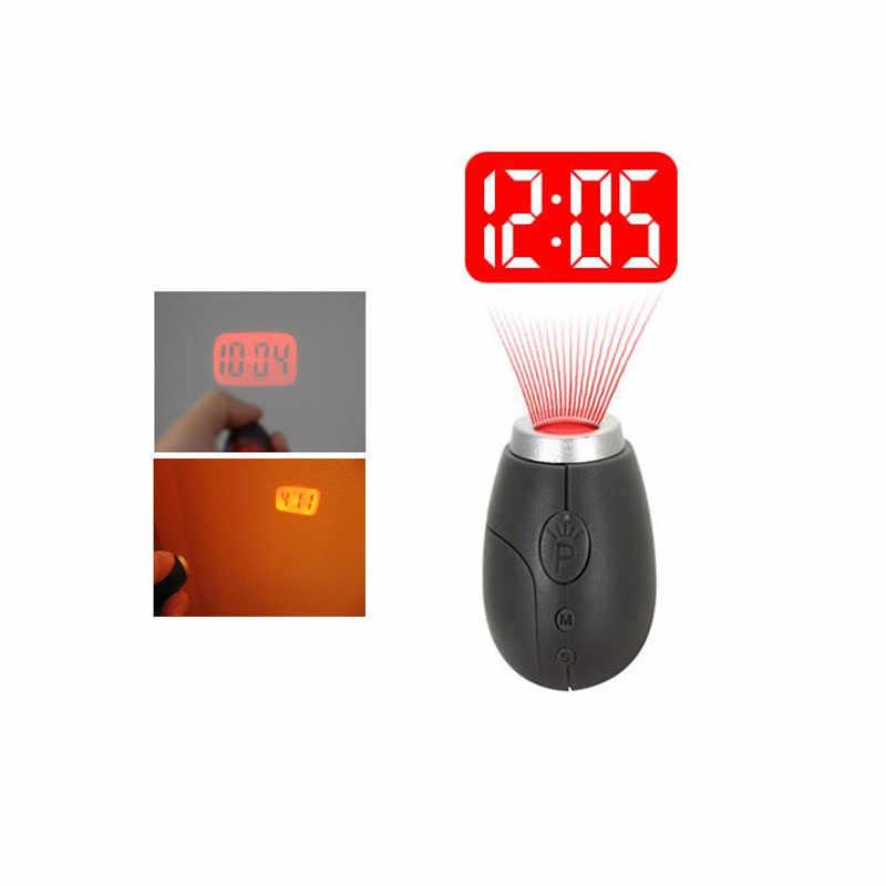 הקרנה דיגיטלית שעון Creative Keychain עיצוב קטן LED הקרנת שעון 3 צבעים מתנה הטובה ביותר
