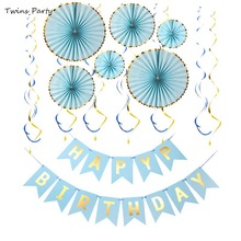 Twins Birthday Decorations Party Supplies with Hanging Swirl for Fiesta Mexican Carnival Kids Family Decor
