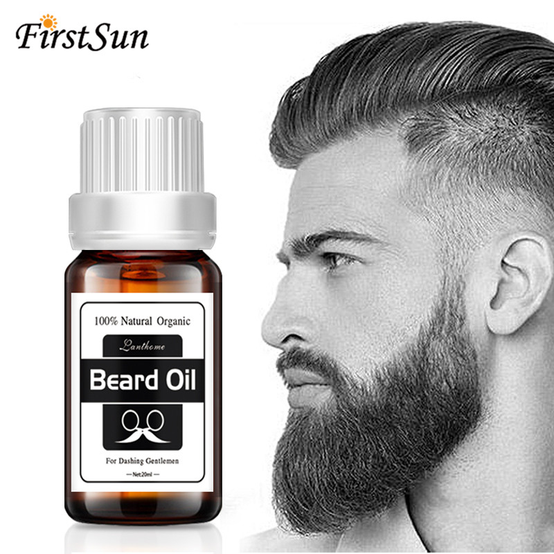 Lanthome Original Beard growth oil mustache grow stimulator 100% natural accelerate beard growth oil facial hair moisturizing image