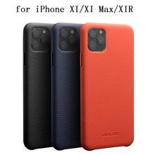 2019 New Fashion Phone Protective Case For Iphone 11 Pro Max Case Genuine Leather Back Skin Shield For Iphone 11 Slim Funda Skin classic vertical genuine split leather skin case for iphone 4 4s all versions black