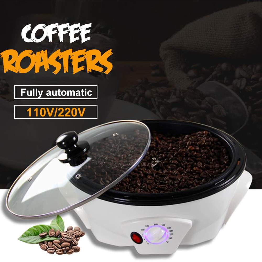 110V/220V Electric Coffee Roaster Home Coffee Beans Machine Roasting Baking Tools Mini Popcorn Machine Household Grain Drying image