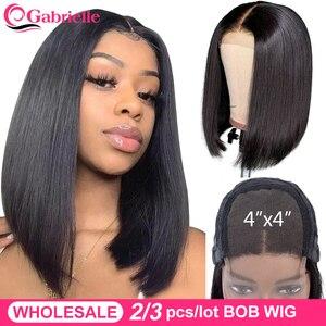 Gabrielle Short Bob Lace Closure Wig 8-16