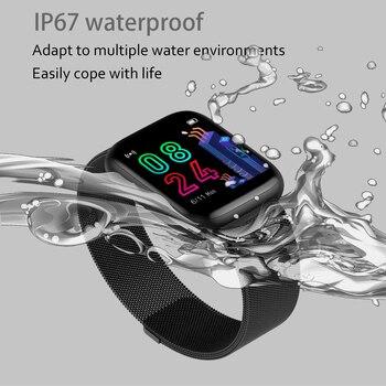 LYKRY P4 גברים נשים שעון חכם 1.4 אינץ IPS מלא מסך מגע לב קצב ניטור IP67 עמיד למים כושר גשש שעון שעונים