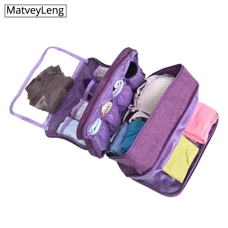 Travel Underwear Bags Women's Cosmetic Makeup Clothing Bra Organizer Weekend Overnight Pouch Product Stuff Accessories