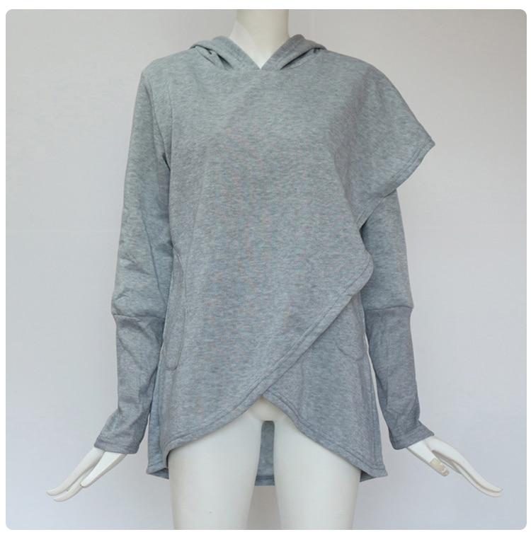 Women Hoodies Sweatshirts Autumn Winter Long Sleeve Pocket Pullover Hoodie 49