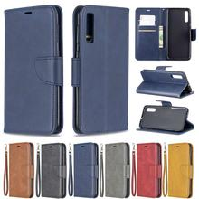 Flip Leather Phone Case For Samsung Galaxy A50 Vintage Magnetic Wallet Card Holder Slot Back Cover Coque Capa