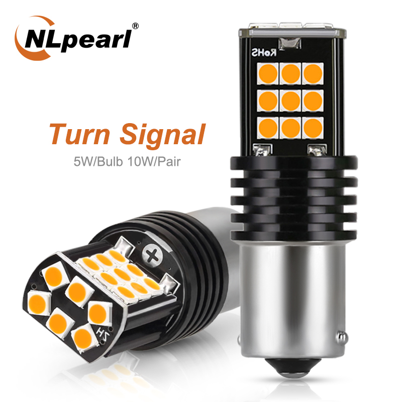 NLpearl 2x Signal Lamp <font><b>Ba15s</b></font> P21w <font><b>LED</b></font> 1156 Bau15s <font><b>LED</b></font> Bulb 3030SMD 1157 Bay15d <font><b>LED</b></font> Signal Turn Lights Reverse Brake Lights <font><b>12V</b></font> image