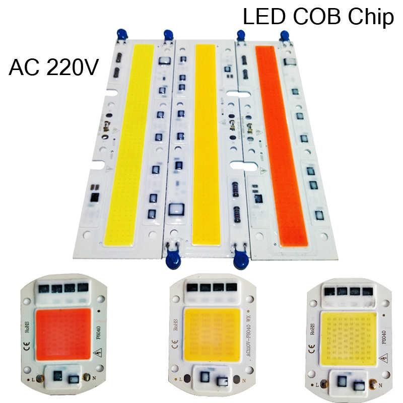 10 Вт 20 Вт 30 Вт 50 Вт 70 Вт 100 Вт 150 Вт светодиодный COB чип теплый/холодный белый интегрированный умный IC драйвер высокой мощности 220 В лампа для выращивания бусин