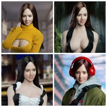 SUPER DUCK SDH016 1/6 A / B / C / D female head carving Asian beauty smiling girl cute charming youth beautiful in stock c d payne youth in revolt compilation