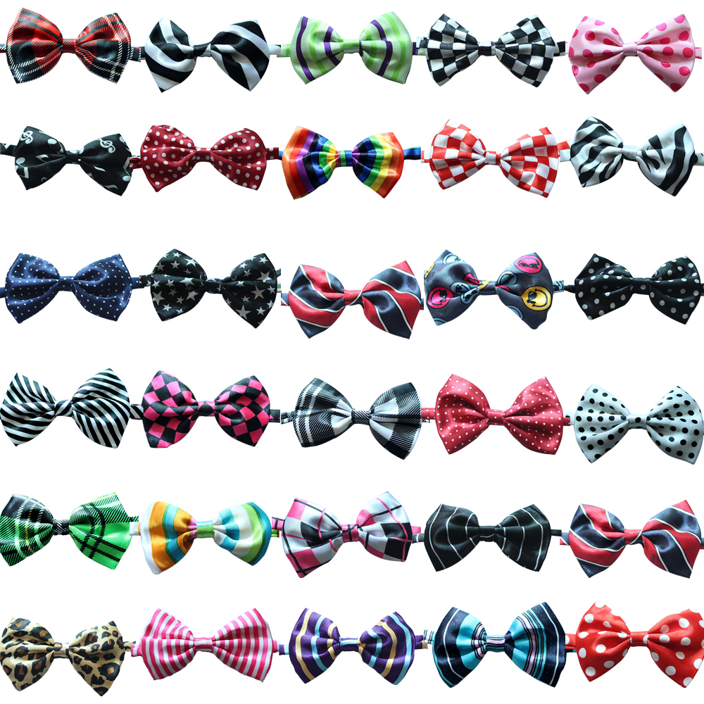50pc/lot  New Handmade Adjustable Pet Dog Bow Ties Pet Dog 