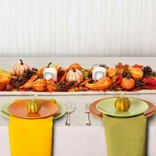 Styrofoam foam Simulation  Vegetable Xmas Fall Harvest Decor Home Table Artificial Mini Pumpkin Gourd Maple Leaf