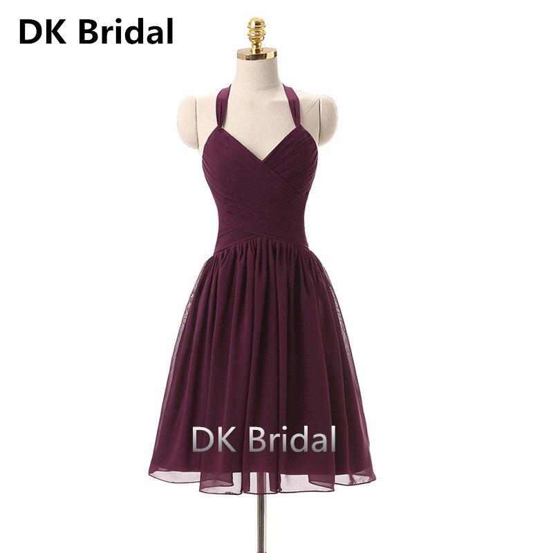 Sexy col en v licou robe de Cocktail 2019 formelle robes de bal courte robe de soirée élégante décontracté sans manches soirée fête d'été