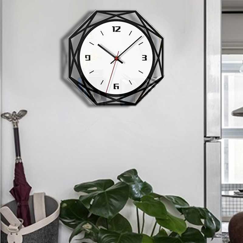Горячие бесшумные большие акриловые настенные часы 3D цифровой современный дизайн черные кварцевые Подвесные часы с наклейками на стену для кухни