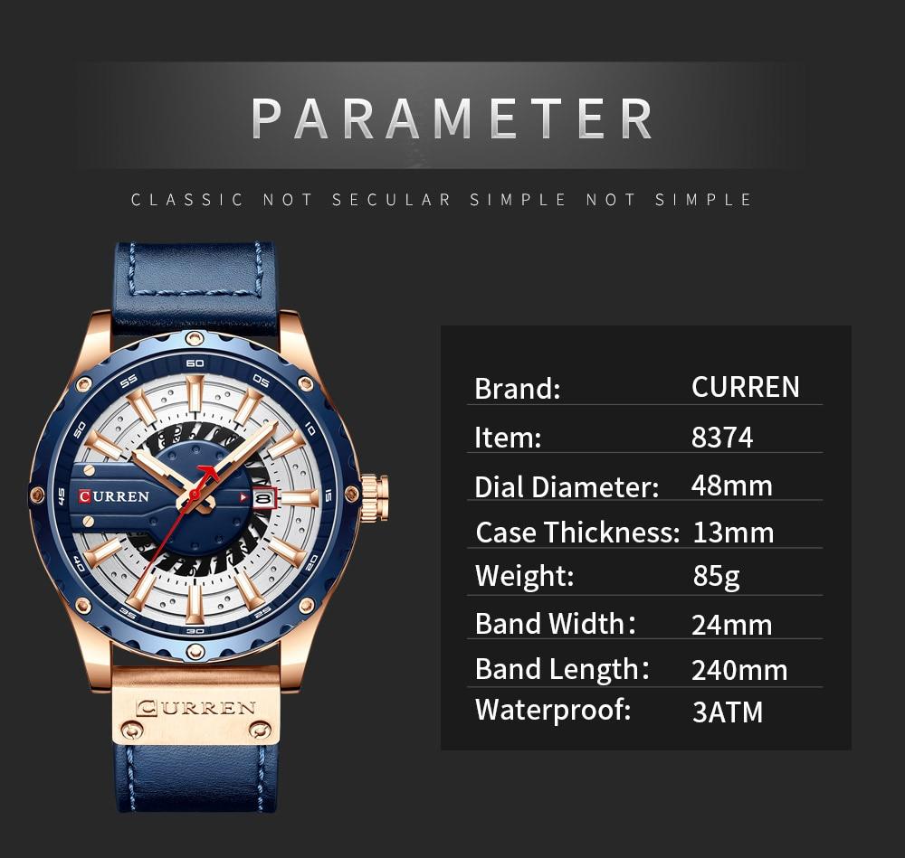 Hc8a4d9e95e9f427d98bcfd1be3d153c57 CURREN Watch Wristwatch  New Chic Luminous hands