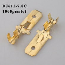 DJ611-7.8C 1000PCS plug terminal Male female wire connector Plugs socket Fuse box Wire harness Soft Jacket car terminal plug t plug y wire harness female to male t plug parallel battery pack connector cable