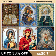 ZOOYA DIY 5D Religion Diamond Painting Full Square Icons Diamond Embroidery Icons Full Layout Set Sale Diamond Mosaic Icons F708 zooya diy 5d religion diamond painting icons diamond embroidery icons full set sale new diamond mosaic icons free shipping 6zj01