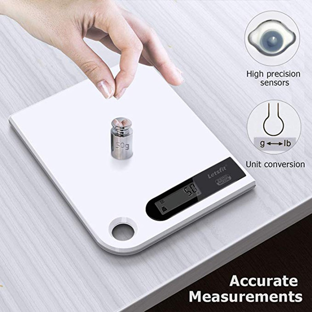 Ultra Slim Digital Kitchen Scale Stainless Steel Electronic Food Scale With Large Platform And Lcd Display