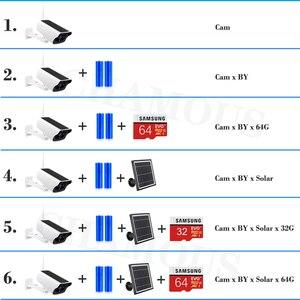 Image 5 - 1080P ip камера на солнечной батарейке 2MP беспроводная Wi Fi батарея охранное Наблюдение Водонепроницаемая наружная камера двухстороннее аудио видео регистратор