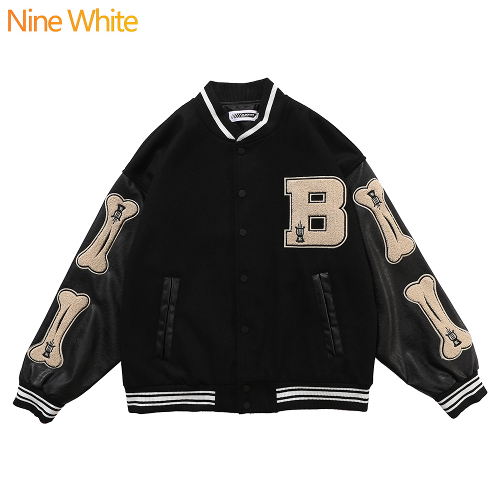 Hip-hop oversized hoodie sweatshirt men 2020 streetwear Harajuku hooded loose fashionable wool fleece sweater baseball uniform 3