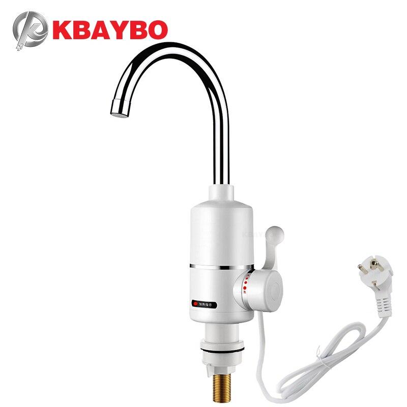 KBAYBO robinet chauffe-eau 3000 W, robinet de salle de bains, robinet de cuisine, robinet de chauffe-eau une seconde