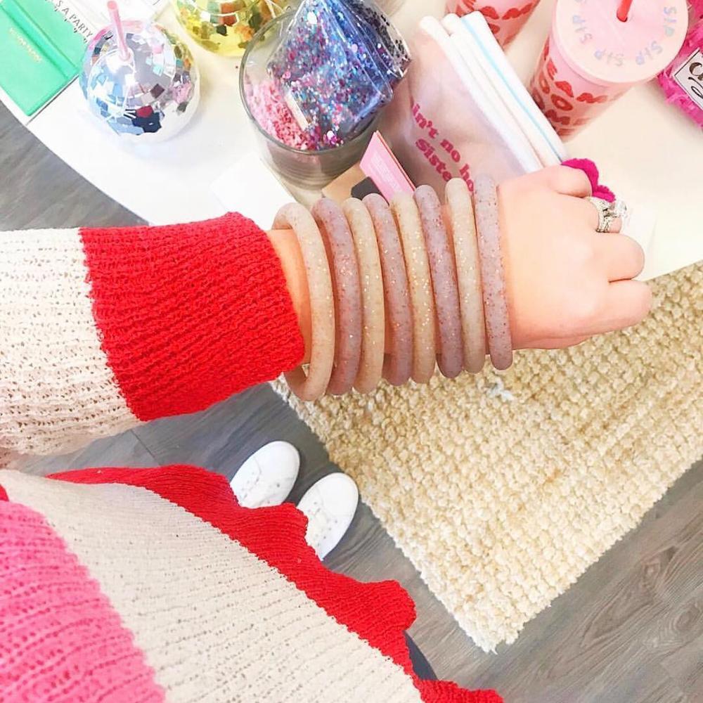 Girlgo-New-Silicone-Big-O-Key-Ring-Chain-Custom-Circle-Wristlet-Bracelets-Keychains-Women-Girl-Key (4)