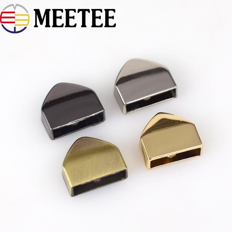 20pcs 12mm High Quality Bag Metal Zipper Decoration End Clips With Screws Handbag Straps Tail Clasp DIY Hardware Accessories