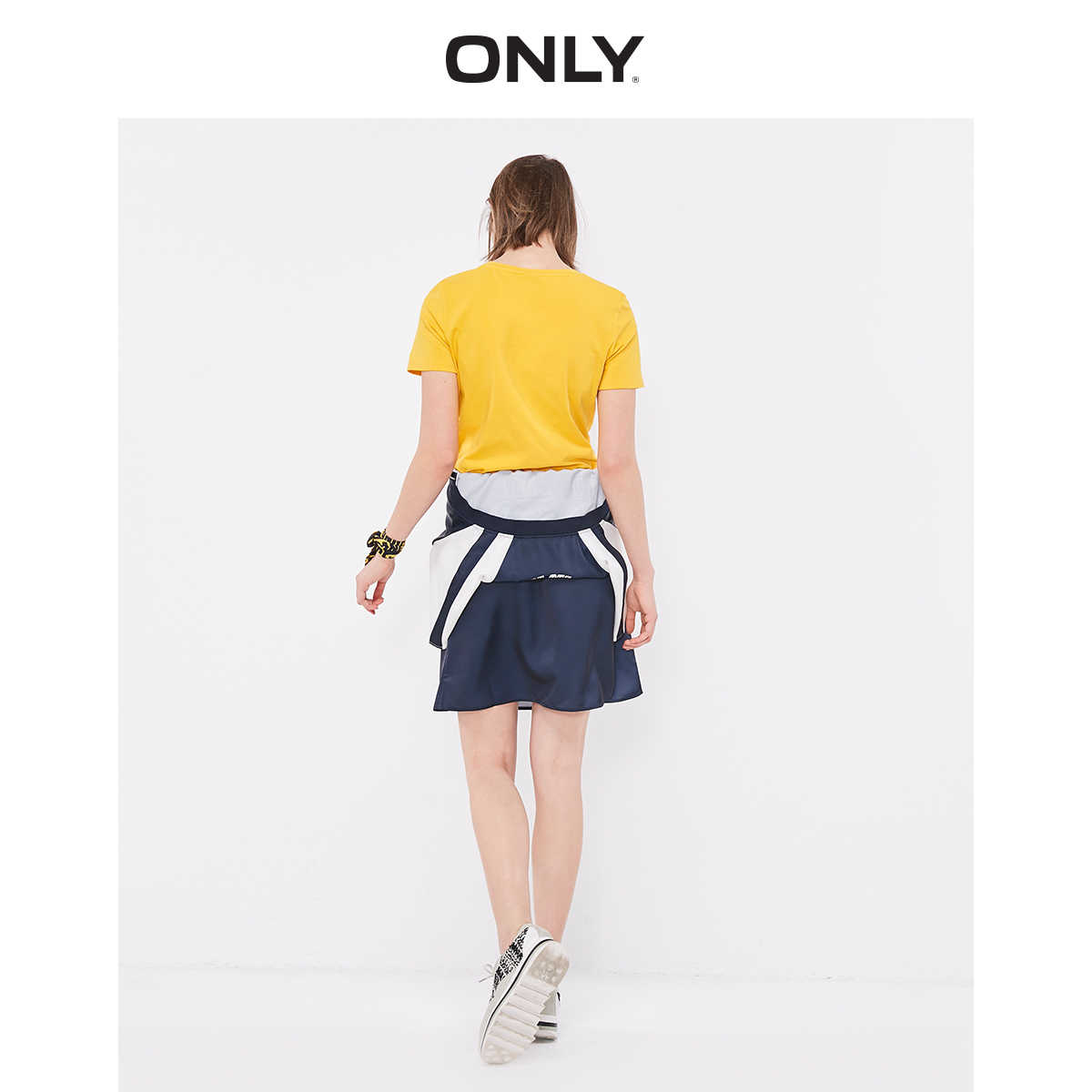 Camiseta de manga corta de Color puro Slim Fit ONLY para Mujer | 119201634