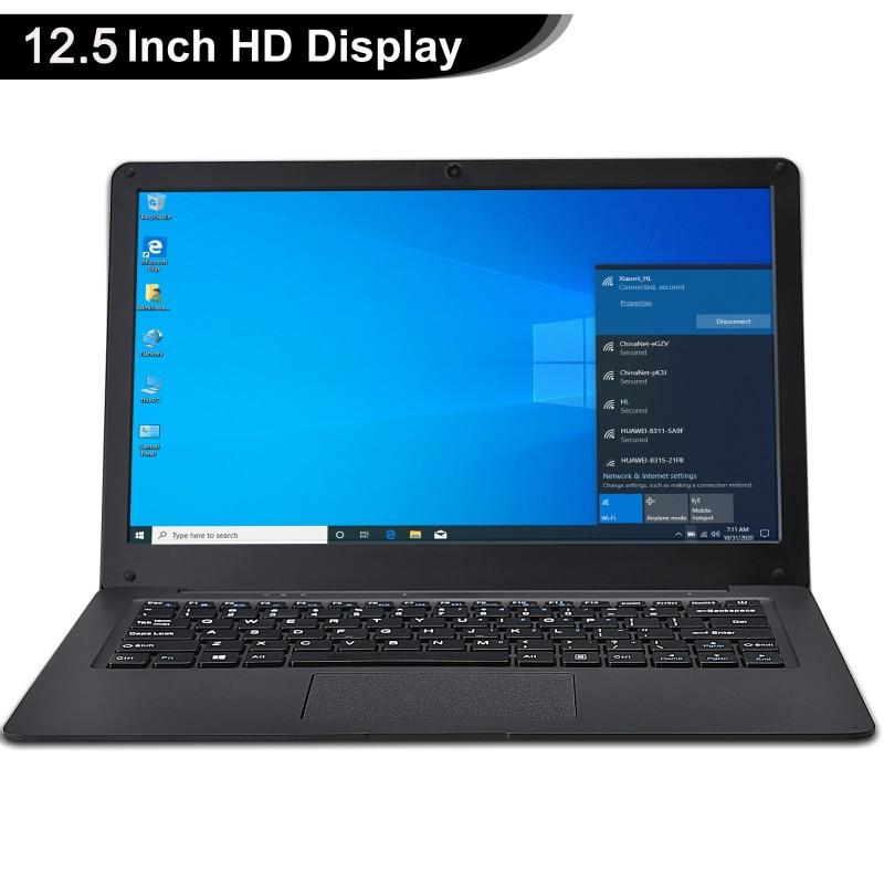 12.5 Inch Netbook Windows 10  Pro Lightweight Ultra-Thin 4GB+64GGB Small Laptop Intel N3350 64-Bit Netbook Ultrabook Office PC 1