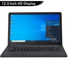 12.5 Polegada netbook windows 10 pro leve ultra-fino 4gb + 64ggb pequeno portátil intel n3350 ultrabook computador de escritório de 64 bits
