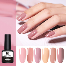 NEE JOLIE 8ml Gel Polish Pure Solid-color One-shot Color Soak Off UV Varnish Nail Art Colorful Semi Permanent Lacquer