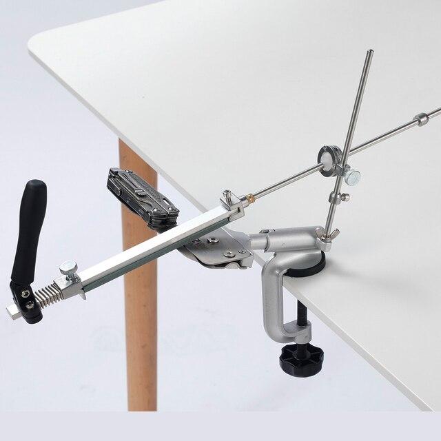 Ruixin Pro afilador de cuchillos con ángulo constante de giro de 360 grados, máquina amoladora, piedra de afilar de diamante, novedad