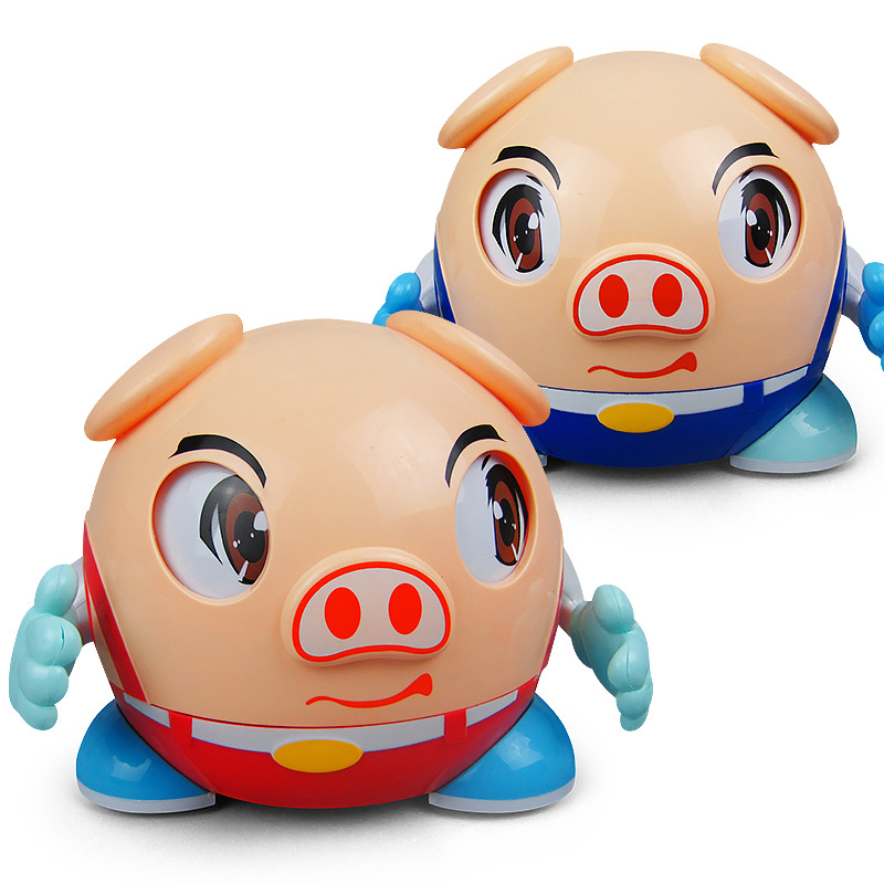 Shaking Voice Network Red Small Adorable Pig Electric Toys China Mobile Walking Rotating Light 3 Song Children'S Educational Nig