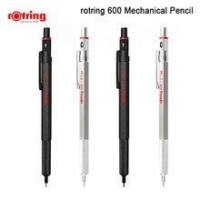 Rotring 600 0.5 مللي متر/0.7 مللي متر الميكانيكية قلم رصاص أسود/فضي معدن قلم رصاص ميكانيكي 1 قطعة