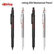 Rotring crayon mécanique automatique 600, 0.5mm/0.7mm métal noir/argent, 1 pièce